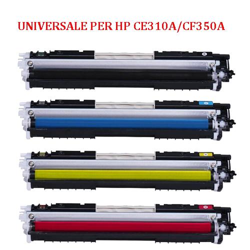 Toner Universale per HP CE310A CF350A CANON 729 nero 1100pag.