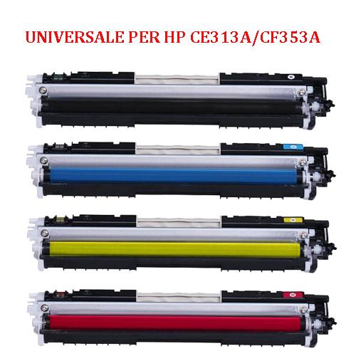 Toner Universale per HP CE313A CF353A CANON 729 MAGENTA 950pag.