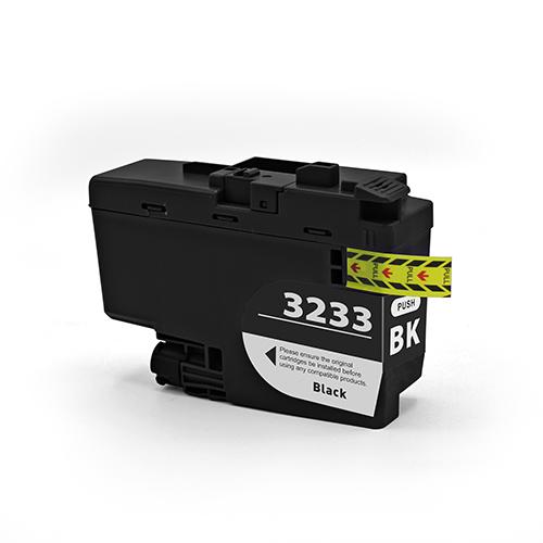 Cartuccia compatibile per Brother LC-3233 nero 3000pag.PIGMENTATO
