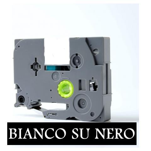9mmX8m Nastro laminato compatibile per Brother TZe-325 bianco su nero