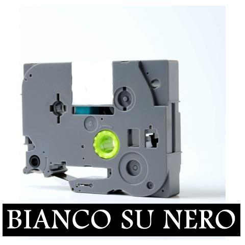 12mmX8m Nastro laminato compatibile per Brother TZe-335 bianco su nero
