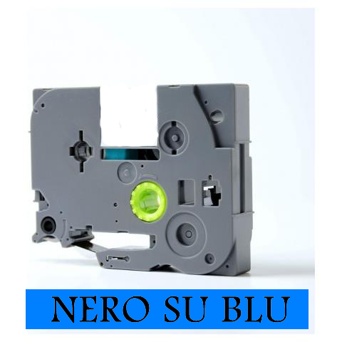 9mmX8m Nastro laminato compatibile per Brother TZe-521 nero su blu