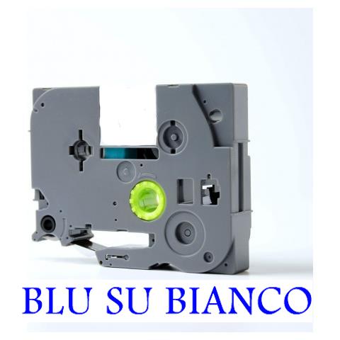 12mmX8m Nastro laminato compatibile per Brother TZe-535 bianco su blu