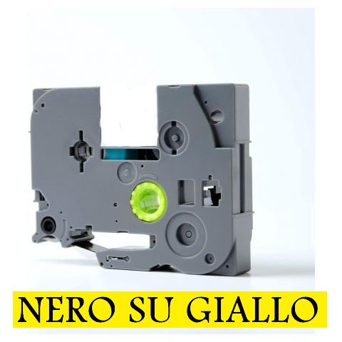 9mmX8m Nastro laminato compatibile per Brother TZe-FX621 nero su giallo