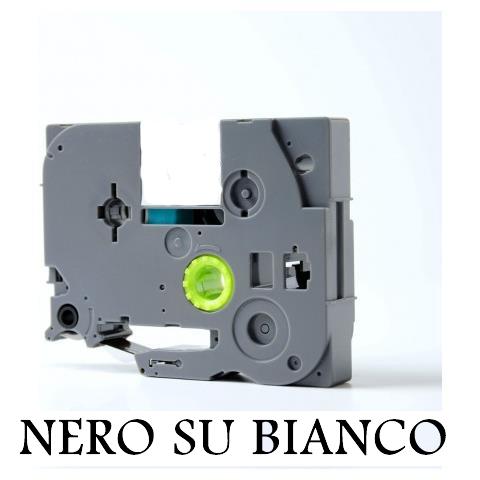 9mmX8m Nastro laminato compatibile per Brother TZe-FX221 nero su bianco