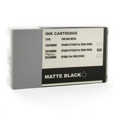Cartuccia comp. per Epson T6128 nero opaco ink dye