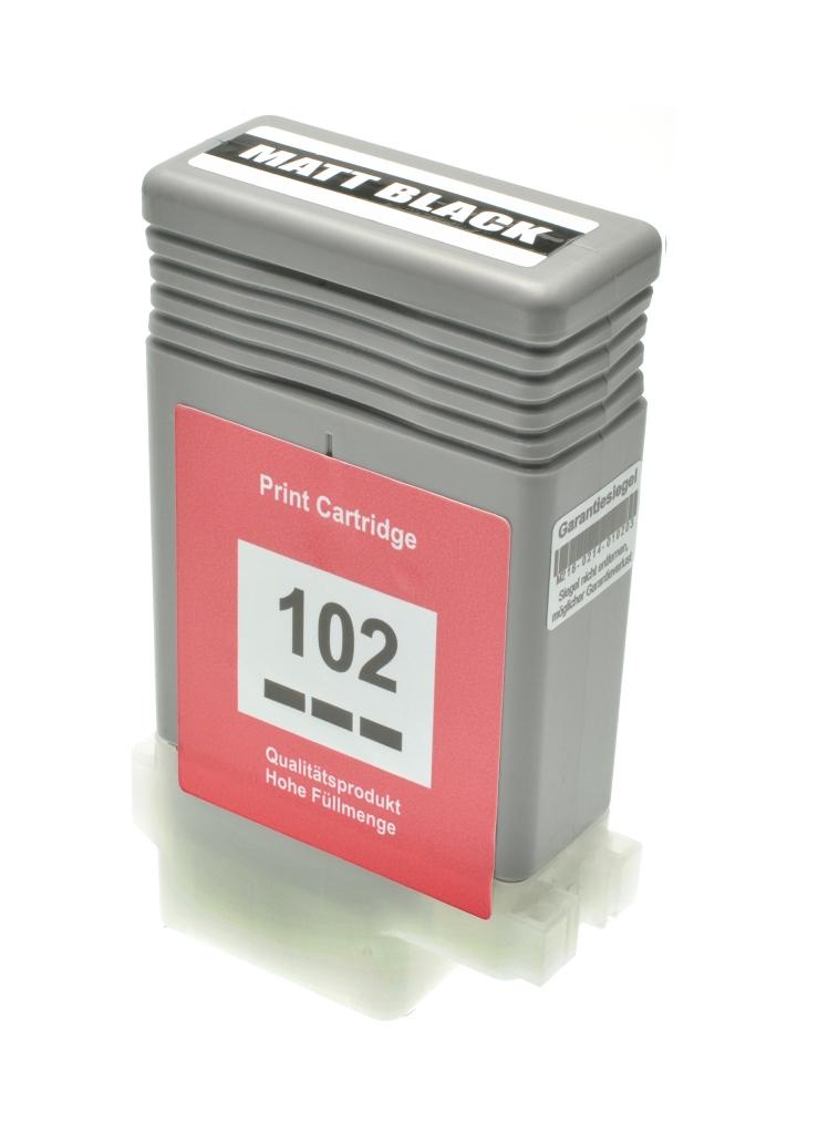 Cartuccia comp. per Canon PFI-102mbk nero opaco 0894B001 ink pigmentato