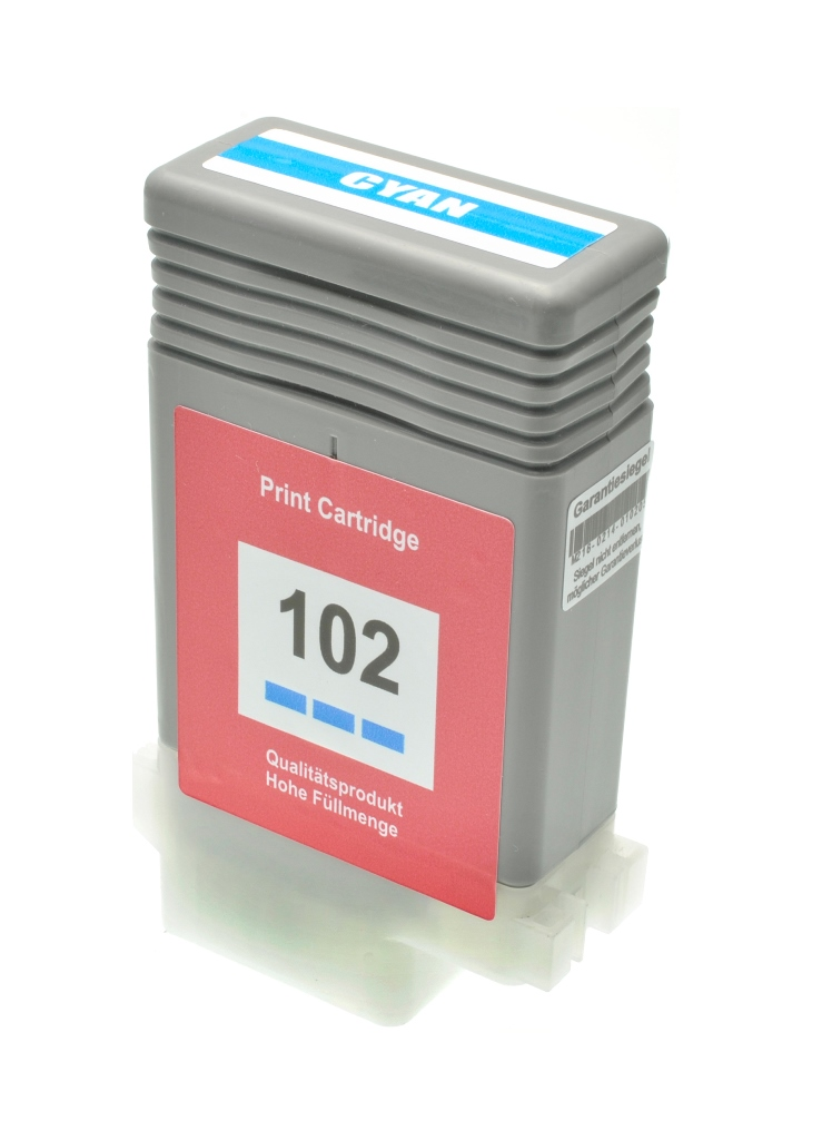 Cartuccia comp. per Canon PFI-102c ciano 0896B001 ink pigmentato