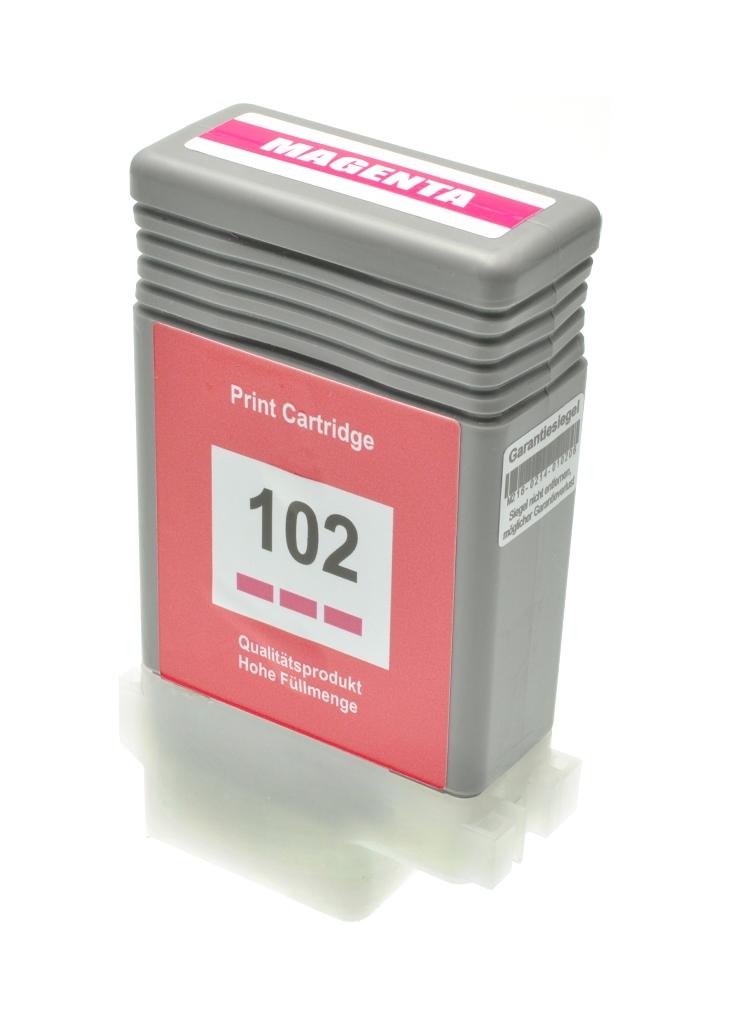 Cartuccia comp. per Canon PFI-102m magenta 0897B001 ink pigmentato