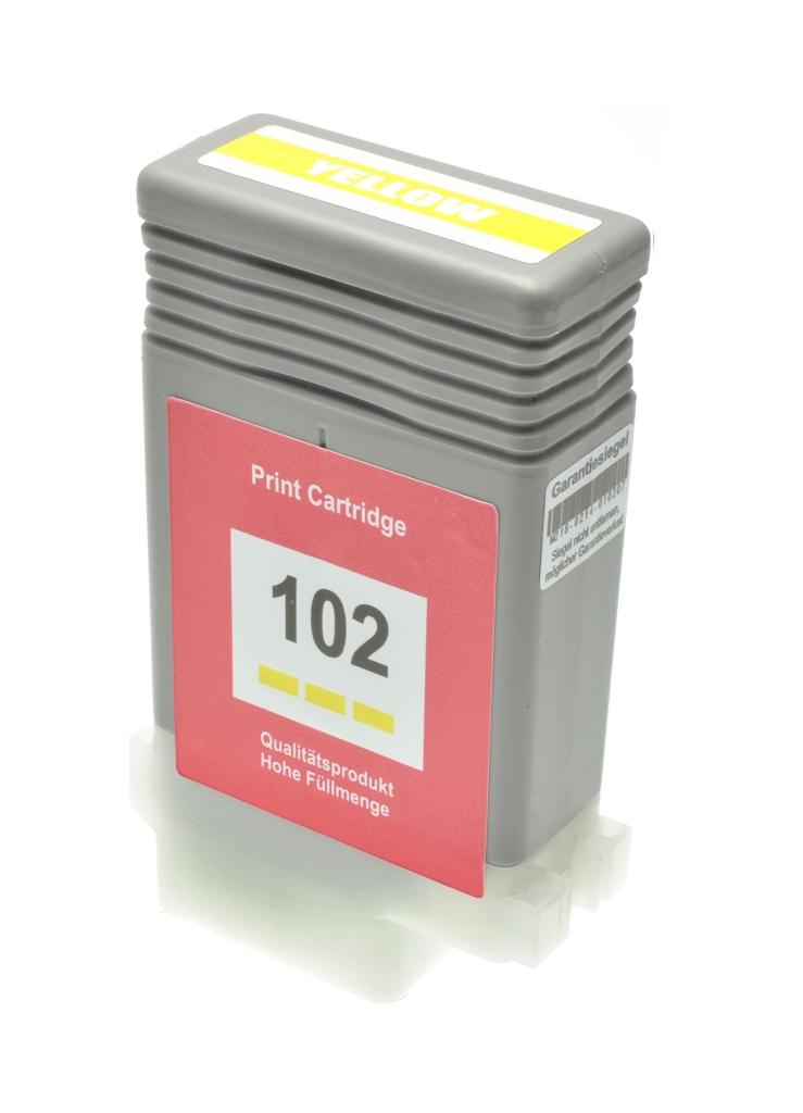 Cartuccia comp. per Canon PFI-102y giallo 0898B001 ink pigmentato
