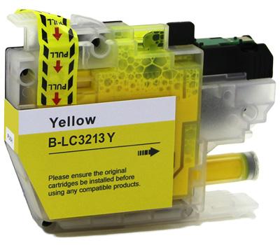 Cartuccia compatibile per Brother LC-3213 giallo 400pag.