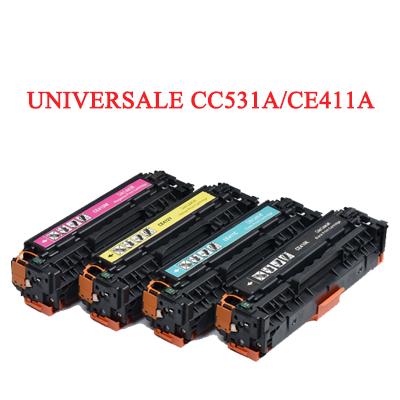 Toner rigenerato universale per HP CC531A 304A CE411A 305A CF381A Canon 718 ciano 2800pag.