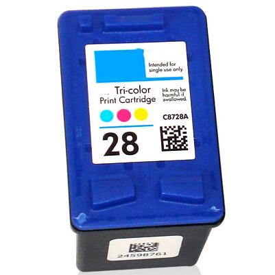 C8728AE Cartuccia rigenerata per HP 28 colori 1100pag.