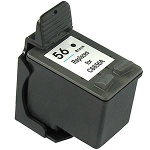 C6656A Cartuccia rigenerata per HP 56 nero 440pag.