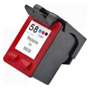 C6658A Cartuccia rigenerata per HP 58 colori 1100pag.
